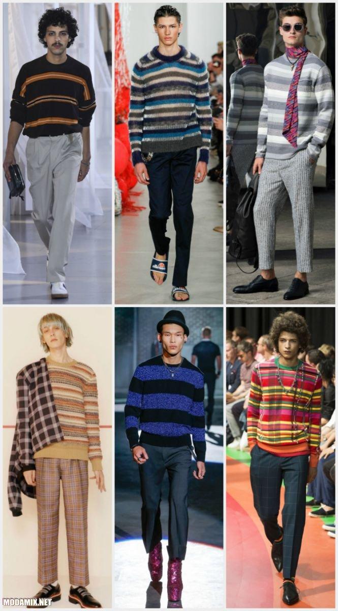 Мужские свитера в горизонтальную полоску