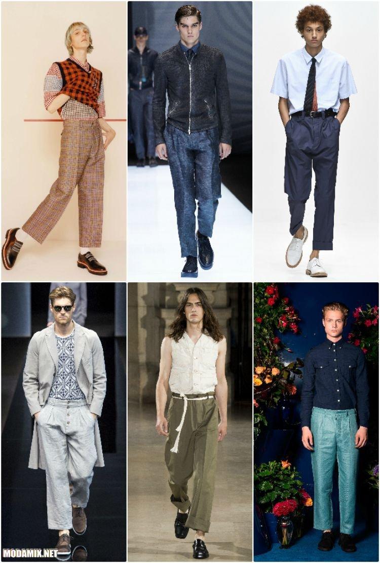 Мужские укороченные брюки прямого кроя - коллекции 2017 года