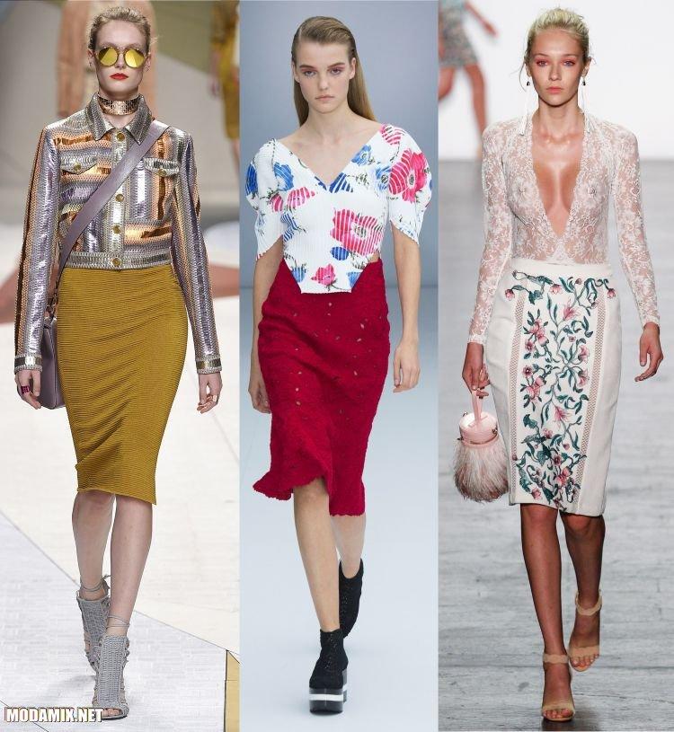Модные юбки карандаш 2017
