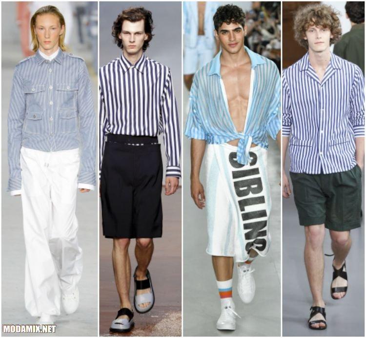 Мужские рубашки в бело-голубой гамме