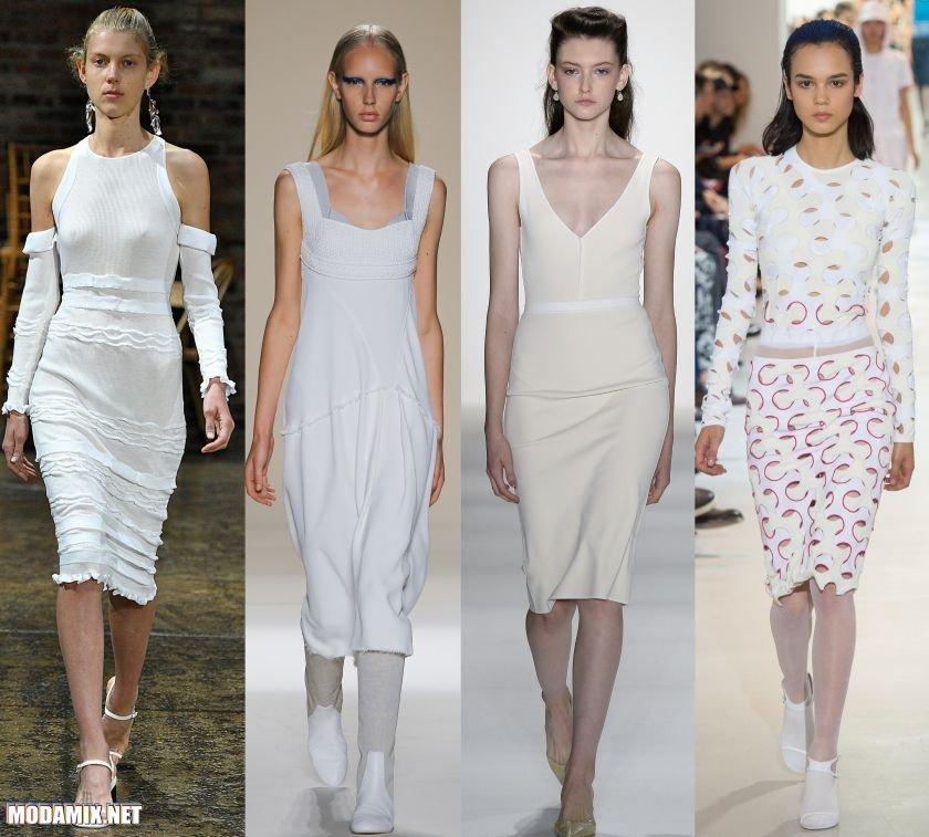 Белые платья футляр 2017