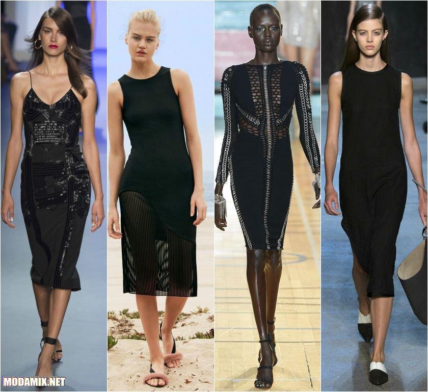 Черные платья футляр 2017