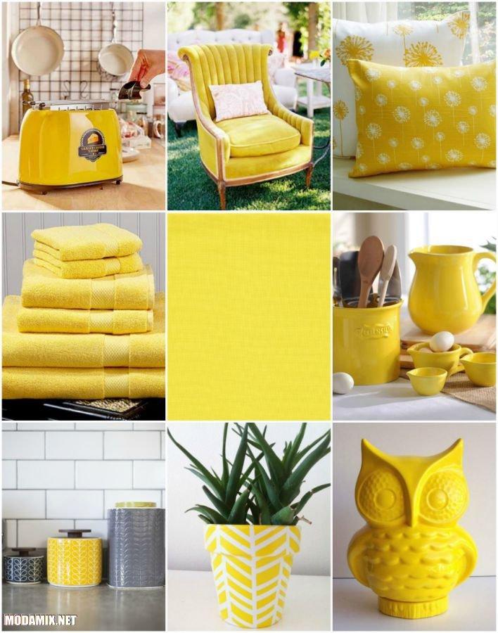 Детали интерьера в желтом цвете 2017