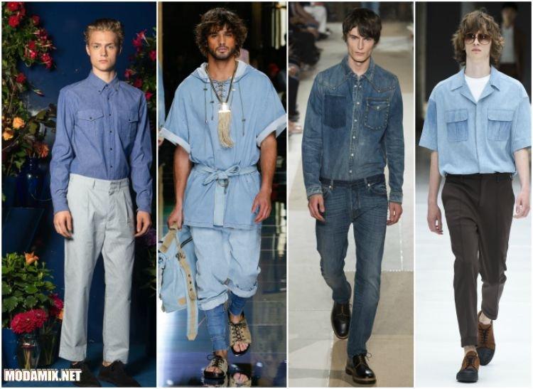 Мужские джинсовые рубашки 2017