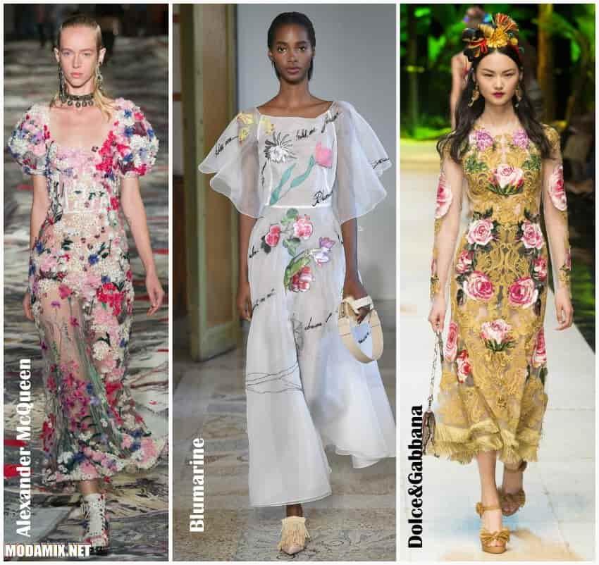Модели летних платьев 2017 фото с цветочной тематикой