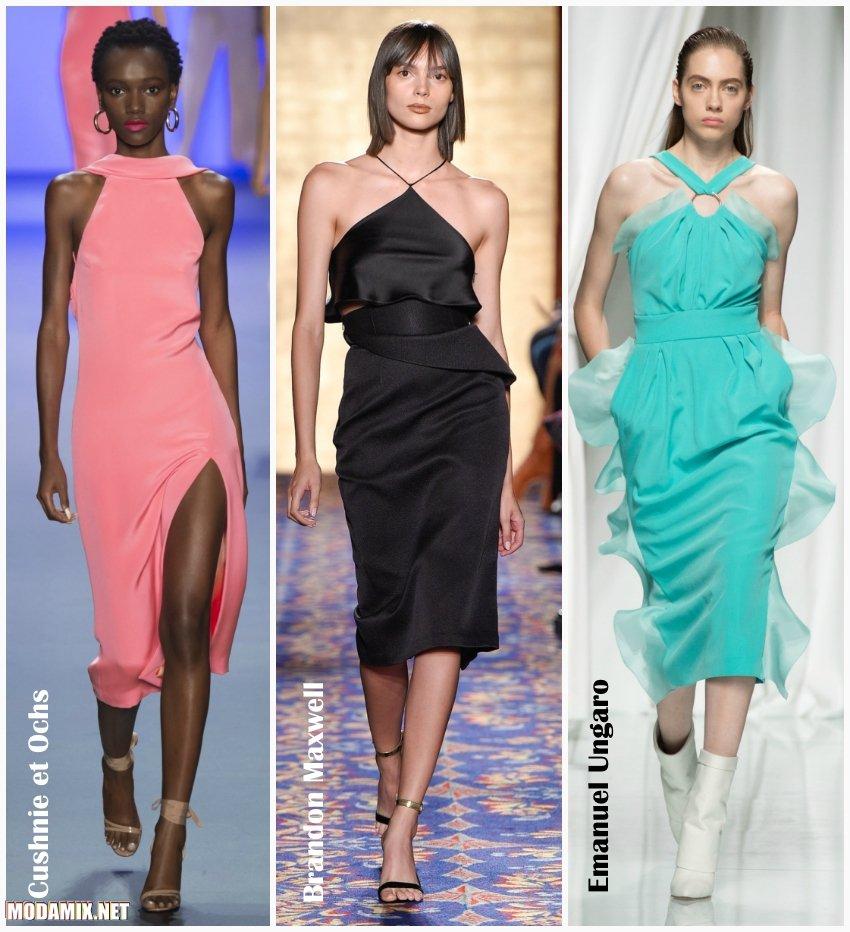 Летние платья 2017 с американской проймой