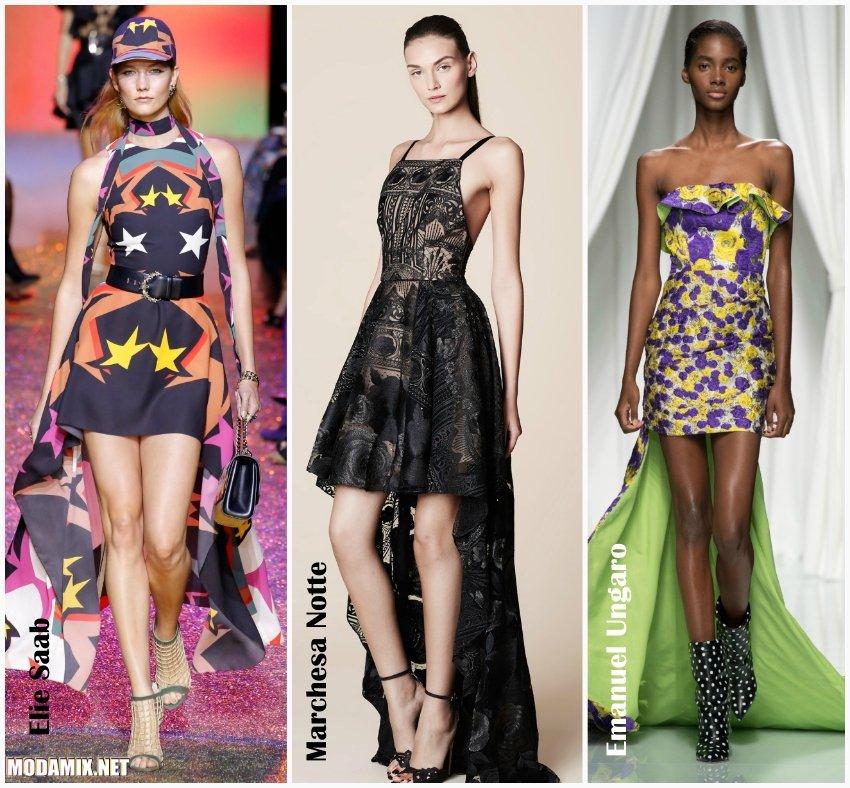 Стильные летние платья 2017 со шлейфом
