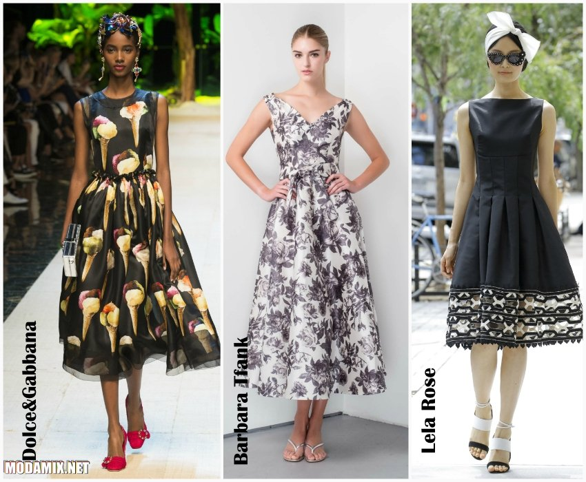Фасоны летних платьев 2017