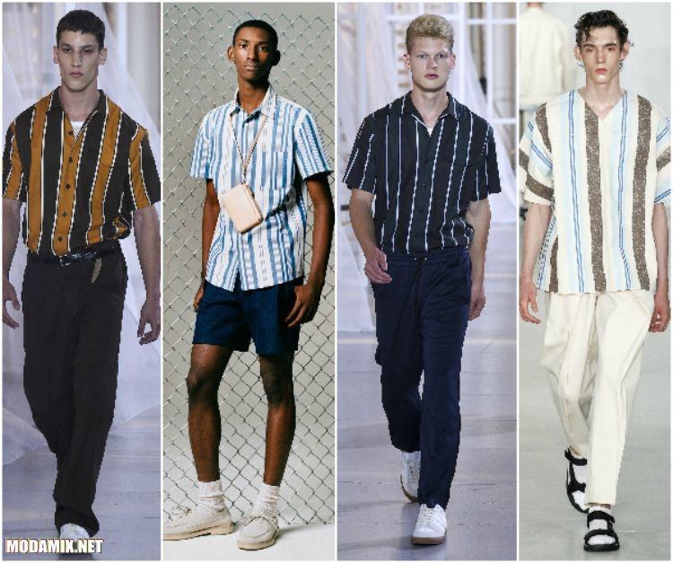 Полосатые рубашки 2017 для мужчин