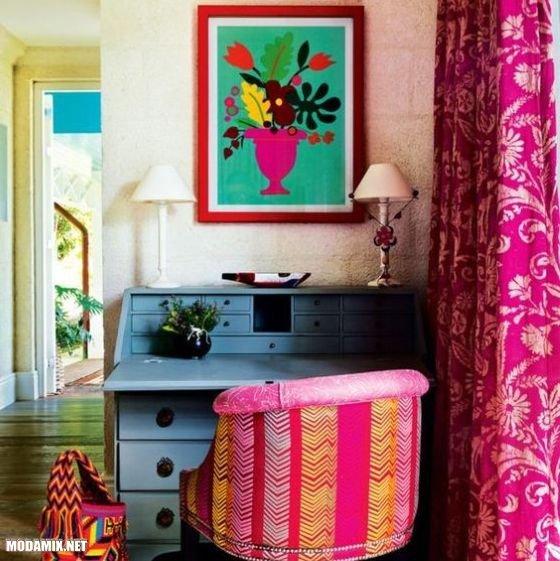 PANTONE 17-2034 Pink Yarrow в интерьере кабинета
