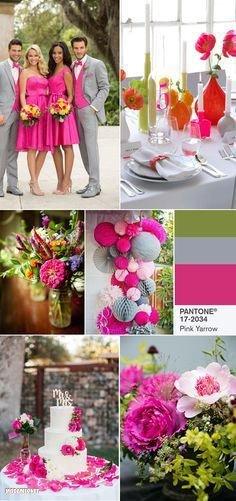 PANTONE 17-2034 Pink Yarrow на свадьбе
