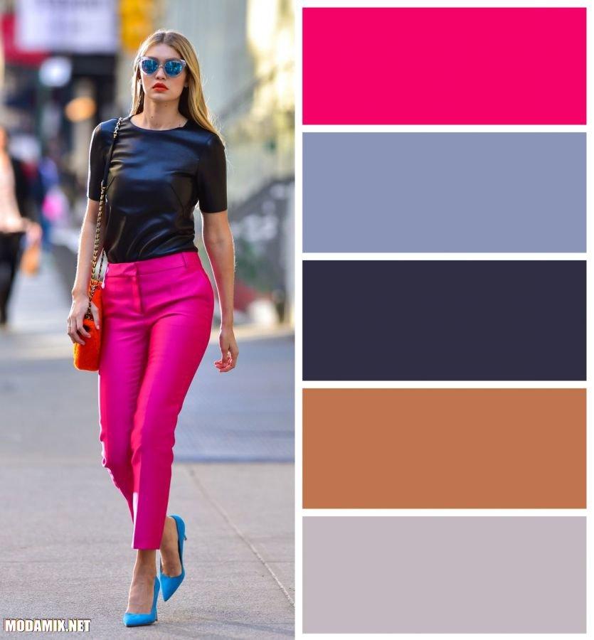 PANTONE 17-2034 Pink Yarrow в гардеробе Джиджи Хадид