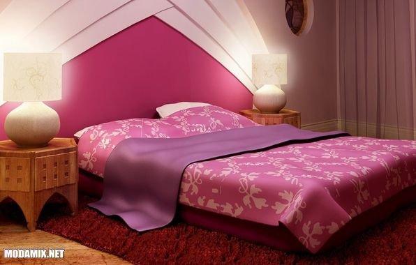 PANTONE 17-2034 Pink Yarrow в дизайне спальной комнаты
