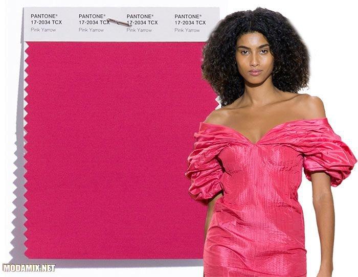 PANTONE 17-2034 Pink Yarrow в моде 2017 года