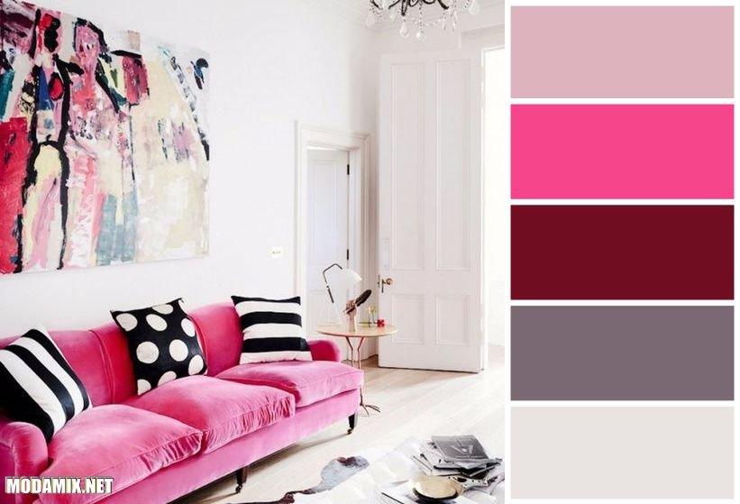 PANTONE 17-2034 Pink Yarrow в дизайне интерьера