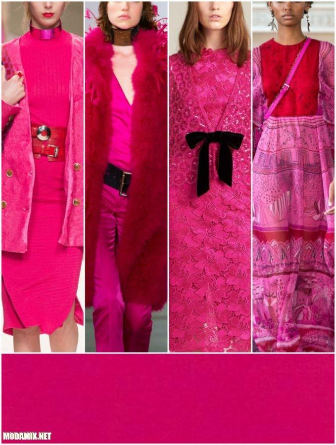 PANTONE 17-2034 Pink Yarrow в коллекциях женской одежды