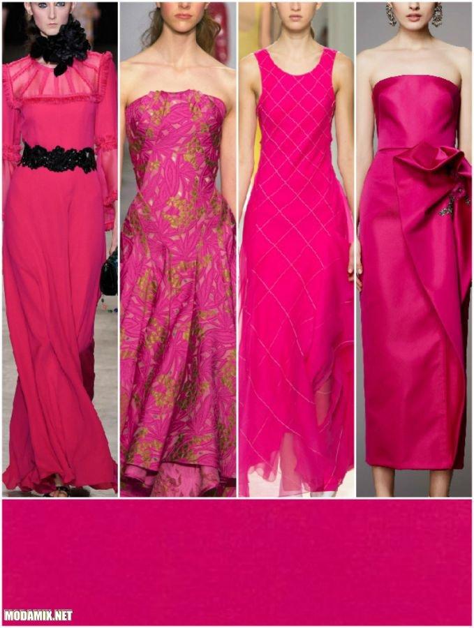 PANTONE 17-2034 Pink Yarrow в вечерних платьях