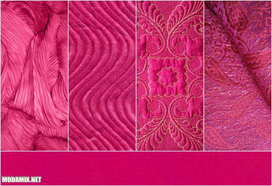 PANTONE 17-2034 Pink Yarrow в тканях
