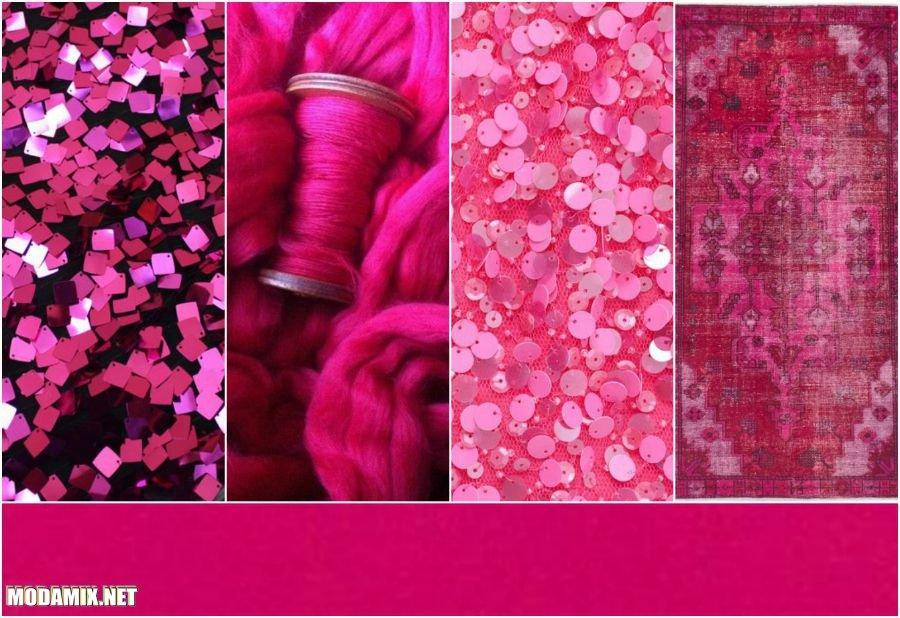 PANTONE 17-2034 Pink Yarrow в текстиле