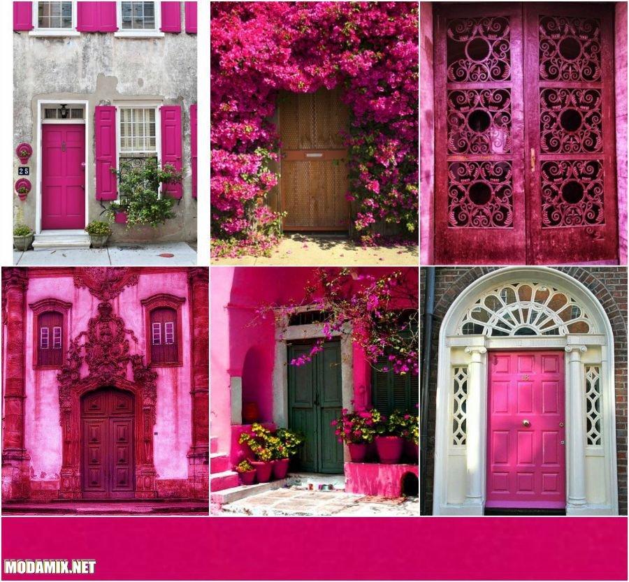 PANTONE 17-2034 Pink Yarrow в архитектуре