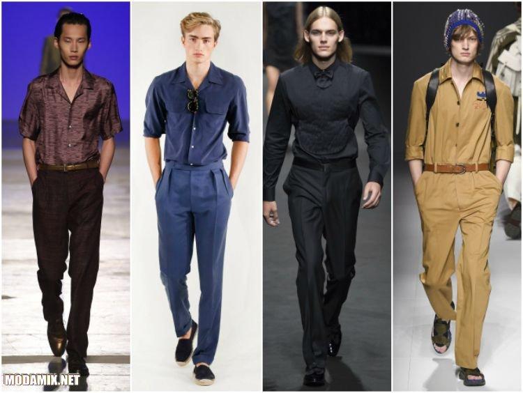 Модные рубашки 2017 года под цвет брюк