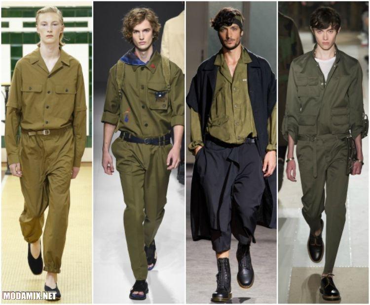 Мужские рубашки в стиле милитари