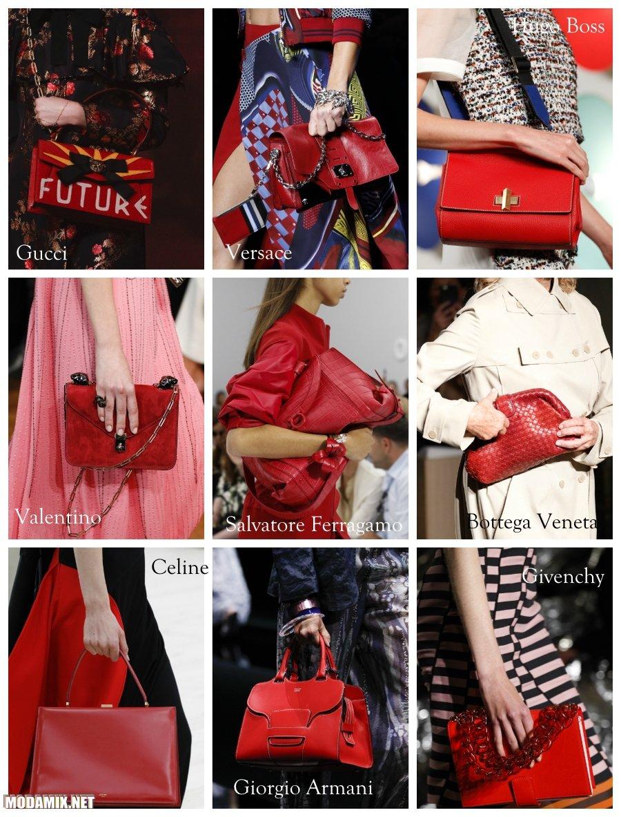 Красный цвет сумок 2017 года
