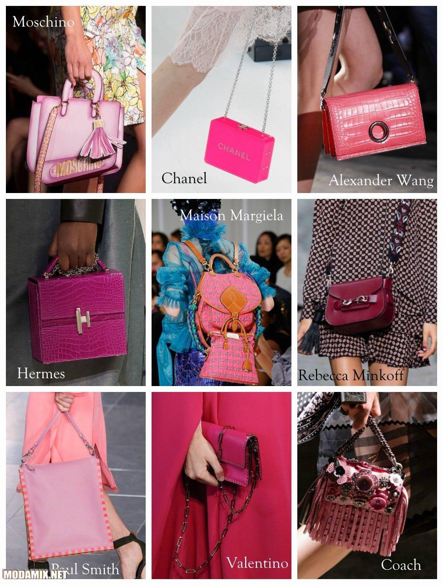 Розовый цвет сумок 2017 года