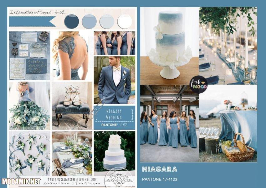 Свадебный дизайн в цвете Niagara