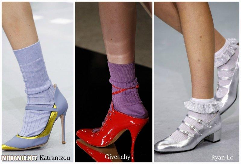 Модные туфли весна 2017 носят с носками