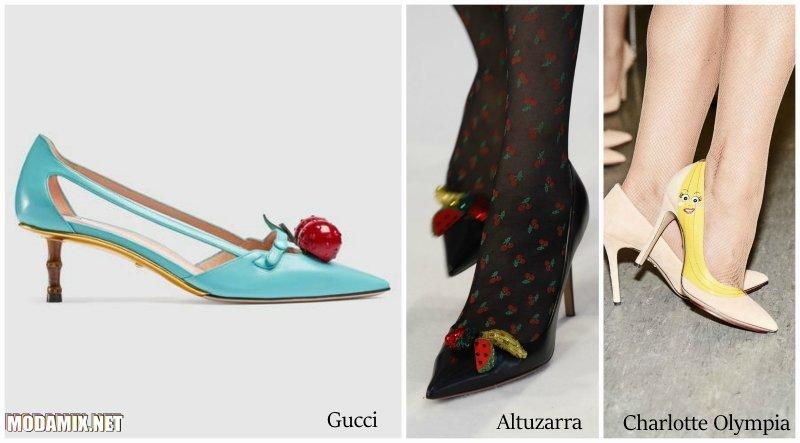 Модные туфли весна 2017 фото с фруктами