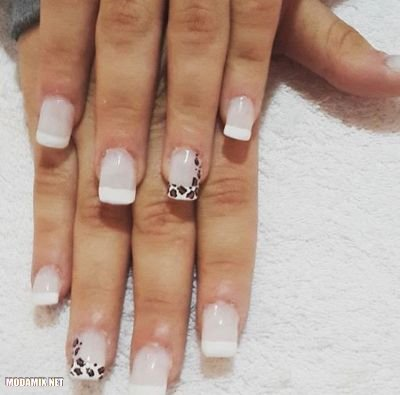 черно белый френч на ногтях фото 2017