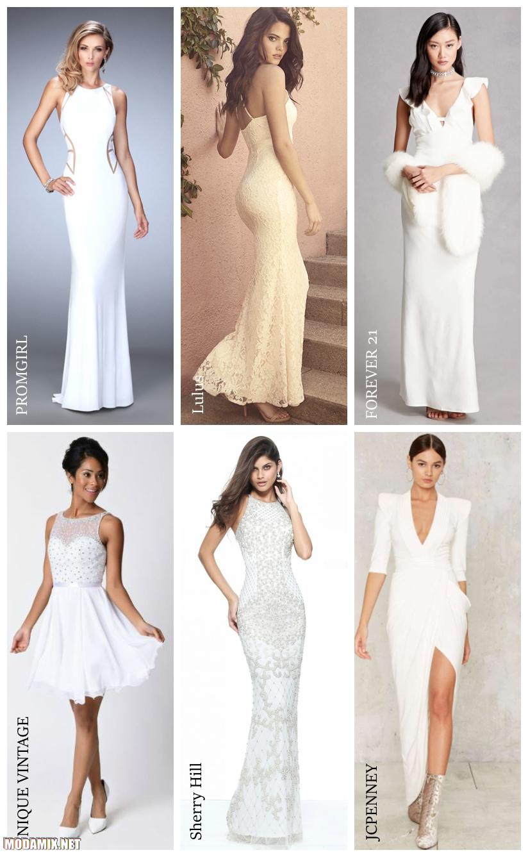 Платья на выпускной белого цвета