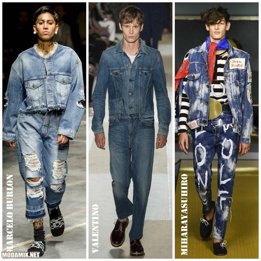 Джинсовые костюмы для мужчин