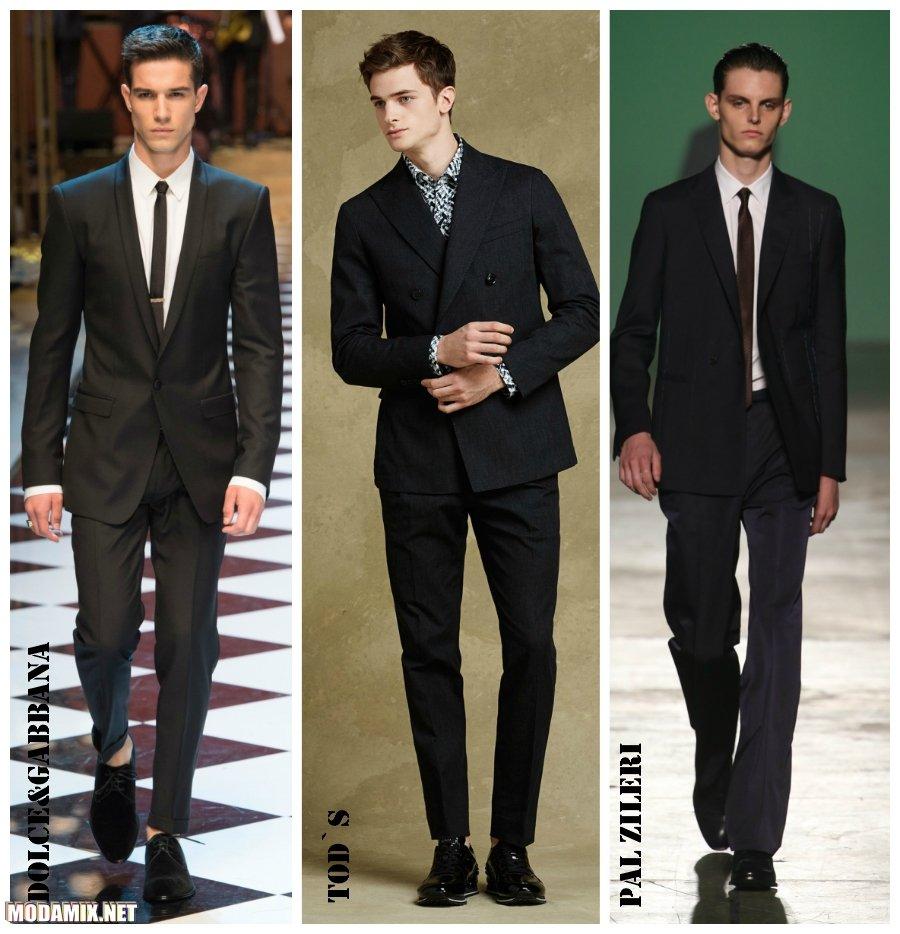 Модные мужские костюмы 2017 фото моделей черного цвета