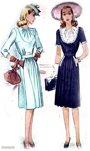 Платья в стиле 40-х годов