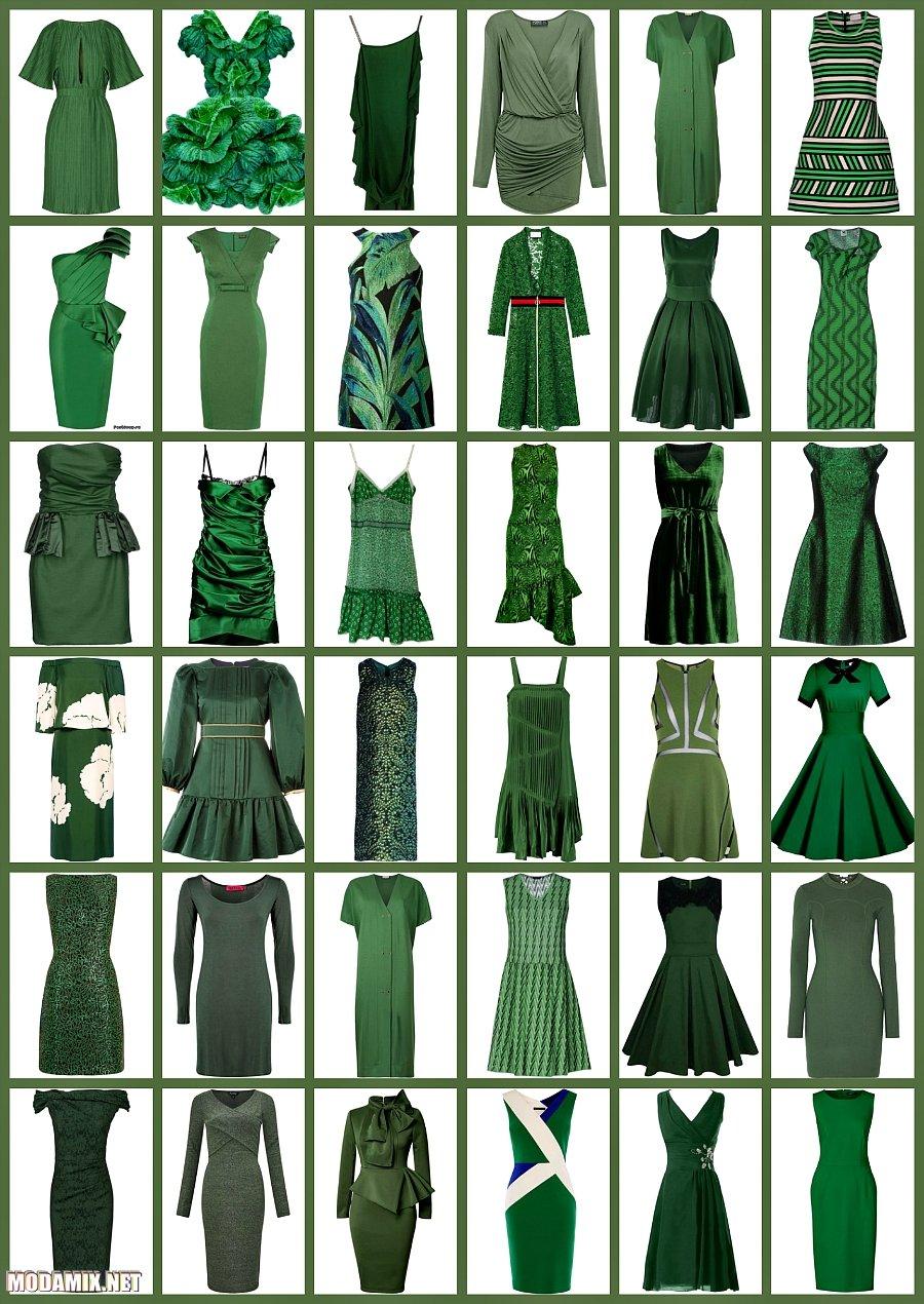 Фото платьев оттенка Kale