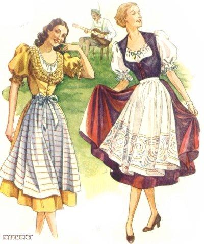 Платья в стиле 40-х - Дирндль