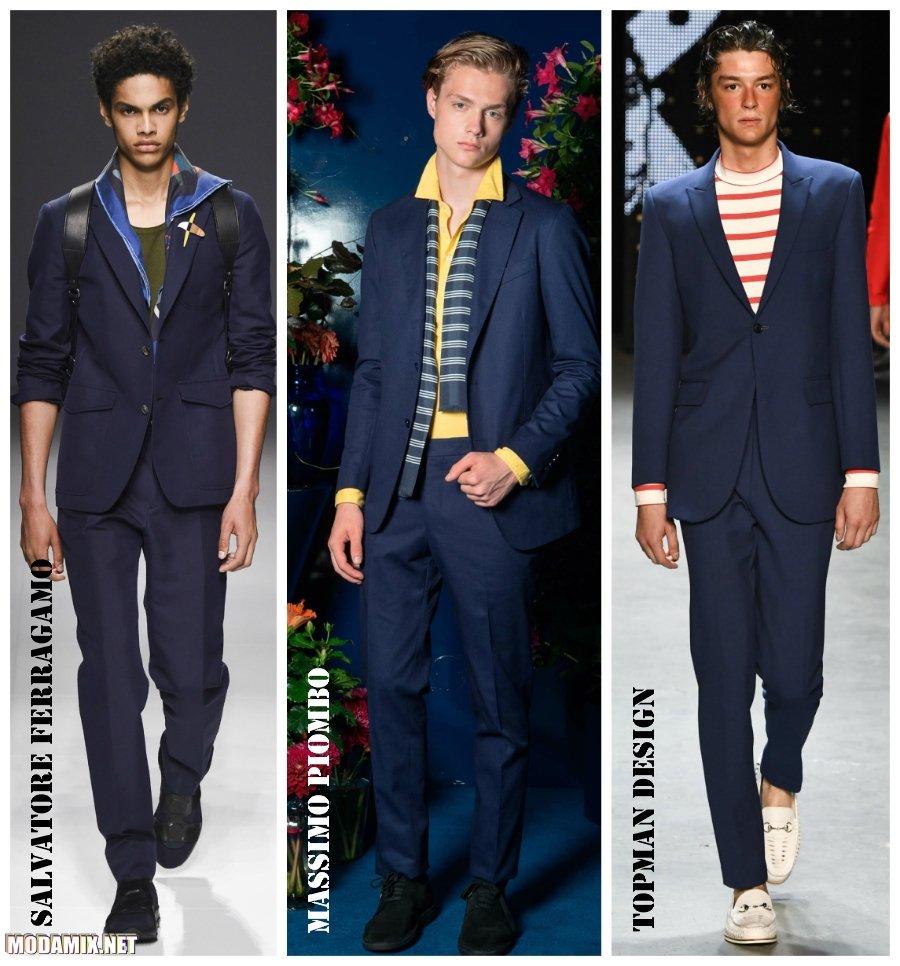 Мужские костюмы синего цвета