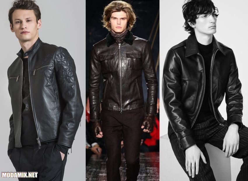 фото мужских кожаных курток 2017 2018