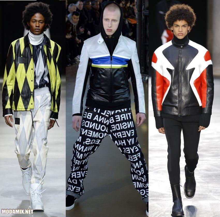кожаные куртки для мужчин на осень 2017