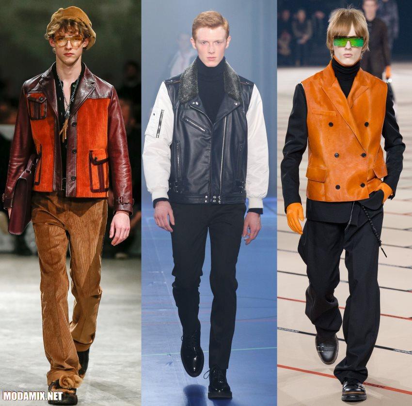 мужские кожаные куртки 2017 2018