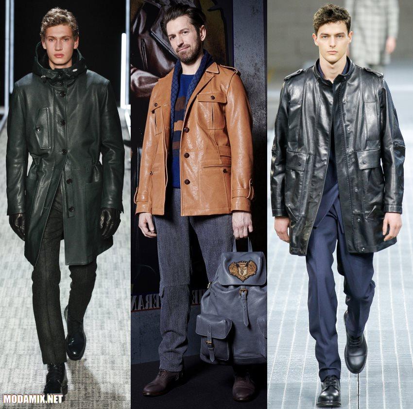 мужские кожаные куртки осень 2017