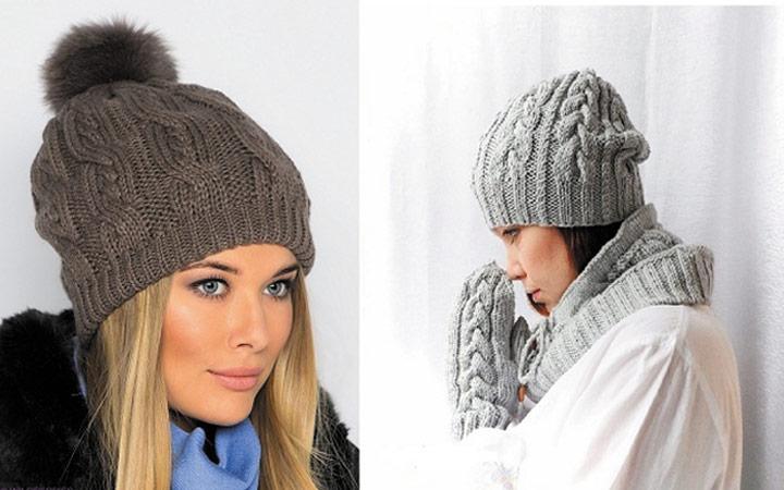 Вязаные шапки из толстых нитей просто произвели фурор зимой 2017 67968d2182338