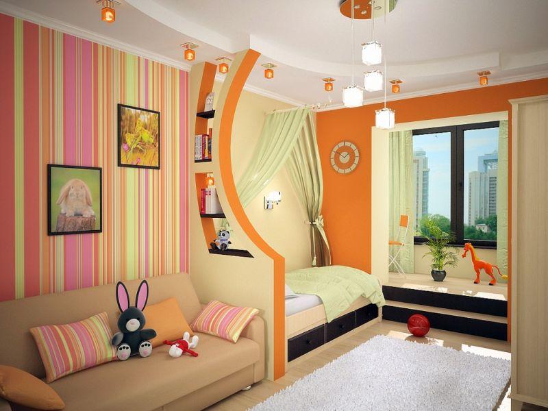 Детские комнаты для детей 4-12 лет