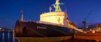 Ледокол «Красин» в Санкт Петербурге. Фото