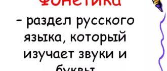 Фонетика в русском языке