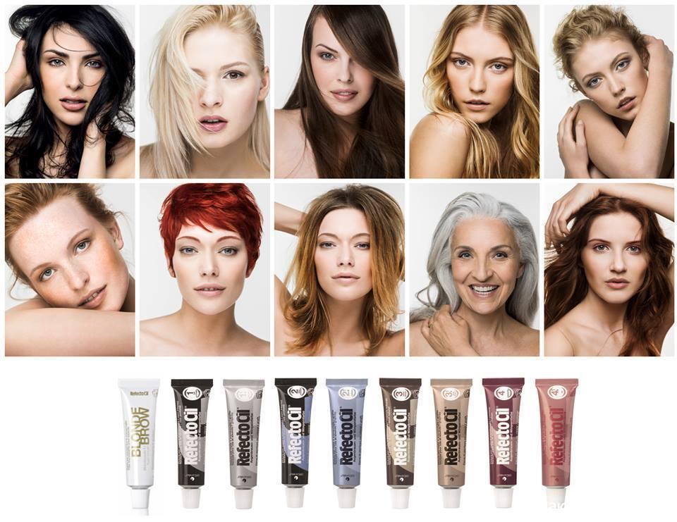 Подбор цвета бровей по цвету волос