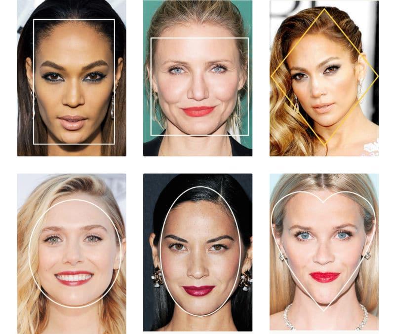различные типы лица