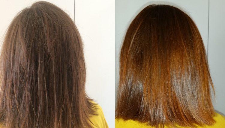 волосы хной до и после